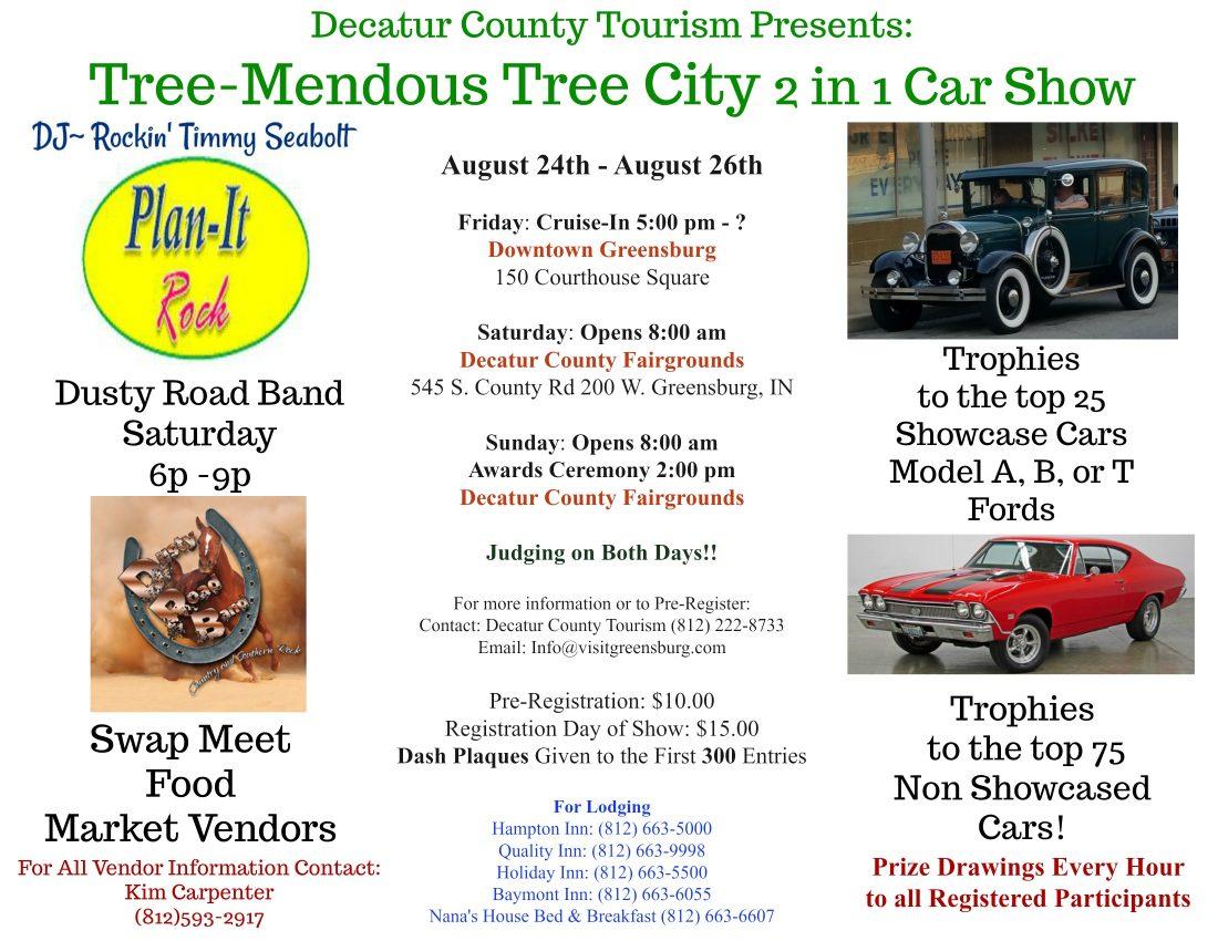 Tree Mendous Tree City 2 In 1 Car Show August 24 26 Wrbi Radio