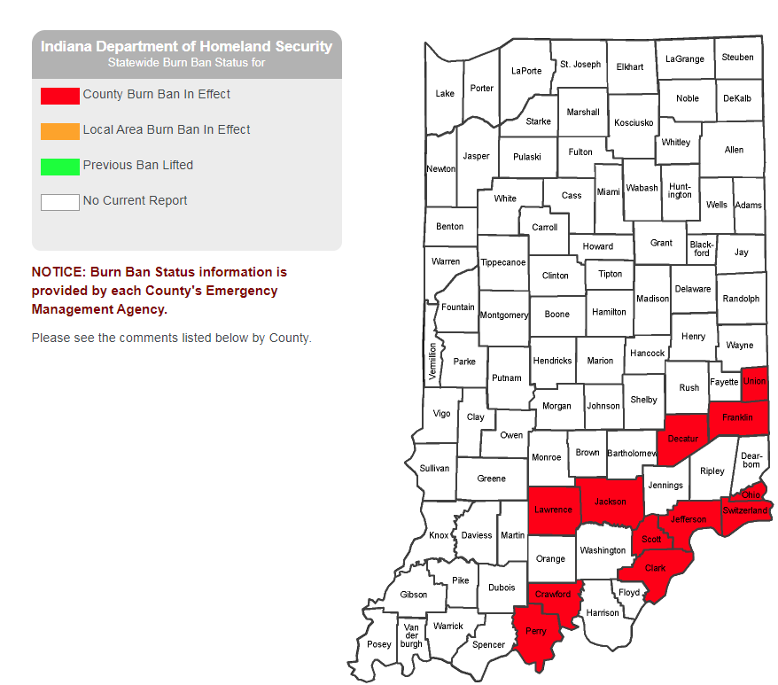 UPDATE: Counties Added To List Of Indiana Counties With